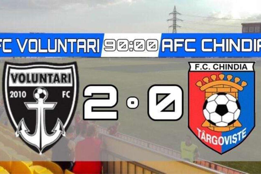 Fotbal – Liga I: FC Voluntari – Chindia Târgovişte 2-0, în play-out